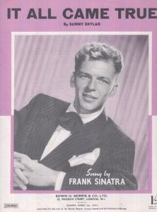 It All Came True Frank Sinatra 1940s Sheet Music