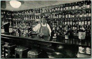 1950s NOVATO, California Postcard GALLI'S RESTAURANT Bar View / Ignacio Pacheco