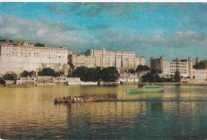 Palaces, Lake Side, Boats, UDAIPUR, India, 50-70´s