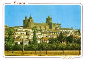 Portugal Evora Partial view and the Cathedral