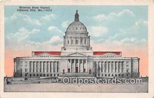 Missouri State Capitol Jefferson City, MO, USA Postcard Post Card Jefferson C...
