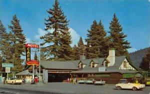 DONNER LAKE LODGE Gas Station US 40 Roadside Tahoe c1960s Vintage Postcard
