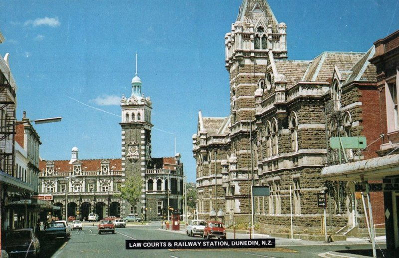 The Law Courts Dunedin New Zealand Postcard