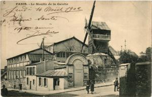 CPA AK PARIS 18e Le Moulin de la Galette (539501)