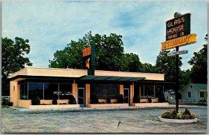 1950s GLASS HOUSE RESTAURANTS Advertising Postcard Atlanta, Georgia Unused