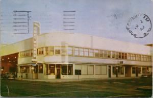 Greyhound Bus Depot Spokane WA Washington c1949 Vintage Postcard D39