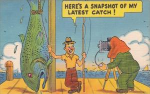Fishing Humour Here's A Snapshot Of My Latest Catch 1946