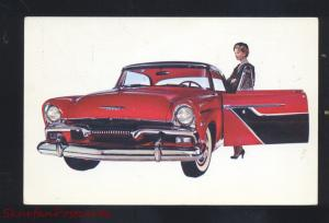 1955 PLYMOUTH NEW ORLEANS LOUSIANA VINTAGE CAR DEALER ADVERTISING POSTCARD