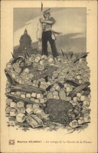 Maurice Neumont Propaganda Freedom of the Press c1915 Postcard