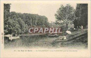 Old Postcard The Tour De Marne Champigny La Varenne the right bank