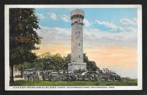 Cars & People Wilders Tower Chickamauga Park Chattanooga Tennessee Unused c1910s