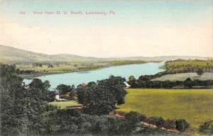 Lewisburg Pennsylvania View from Bucknell University South Postcard J81074