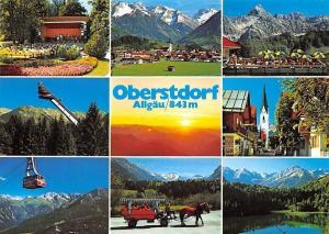 Oberstdorf Allgaeu, Im Kurpark Ortsansicht Flugschanze Am Nebelhorn Freibergsee