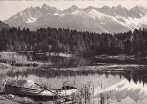Austria Wildsee in Seefeld mit Kalkkoegel Real Photo