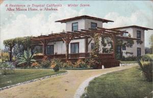 California Altadena A Residence in Tropical California Winter Scene Allen Mis...