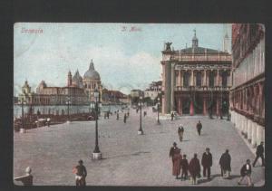 119850 Italy Venice VENEZIA Il Molo w/ LABEL Vintage RPPC