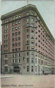 Vintage Postcard, Hotel Touraine, Boston, Mass.