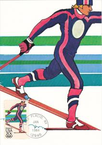 United States Winter Olympics Lake Placid 1984 Nordic Skiing