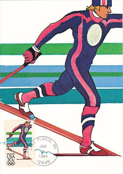 United States Winter Olympics Lake Placid 1984 Nordic Skiing