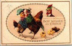 VTG Postcard Best Wishes For Easter Chicken 1914 San Jose Calif Bakersfield 1394