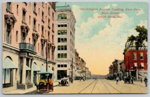 South Bend Indiana~Balcony Over Buick~Romadka Trunk Co~Oliver Hotel~Trolley Trax