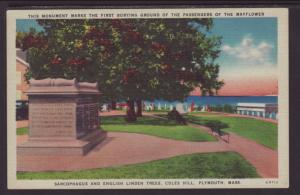 Sarcophagus,Linden Trees,Coles Hill,Plymouth,MA Postcard