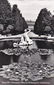 Austria Vienna Menagerie Allee im Schlossgarten Schoenbrunn Real Photo