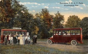 LP73 Huntington Indiana Vintage T.H.A.T. Park Entrance old Bus