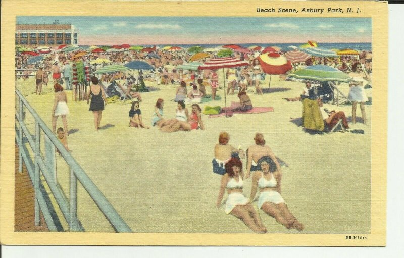 Asbury Park, N.J., Beach Scene