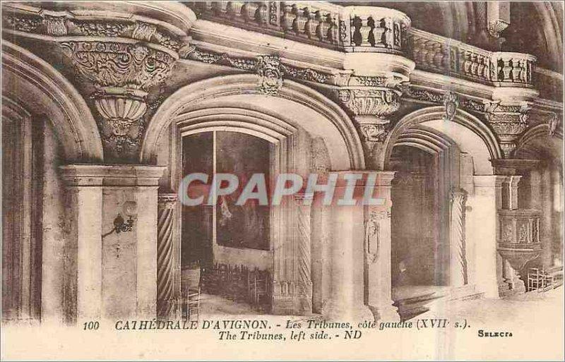 Postcard Old Cathedral of Avignon Tribunes left side (seventeenth century)