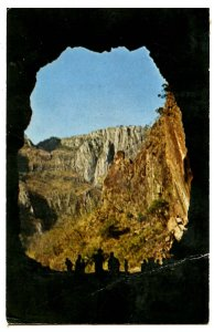 Mexico - Sierra Tarahumara. Exit from La Papa Tunnel   (crease)