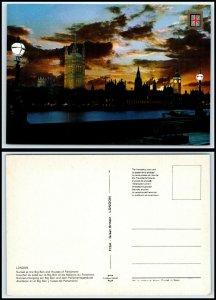 UK Postcard - London, Big Ben & Houses Of Parliament At Sunset GG45