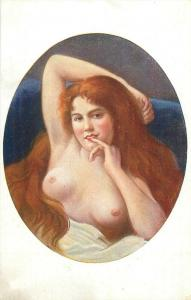 After the sin by Xavier Sager Salon Paris early risque art postcard