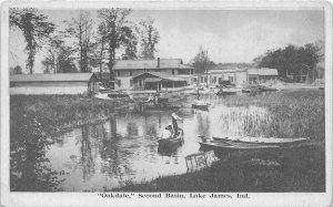F73/ Lake James Indiana Postcard c1910 Oakdale Second Basin Cottages