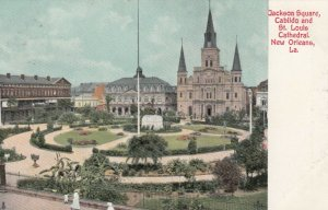 NEW ORLEANS, Louisiana, 1900-10s; Jackson Square, Cabildo & St. Louis Cathedral