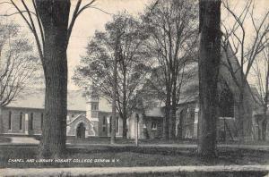 Geneva New York Hobart College Library Chapel Antique Postcard K41232