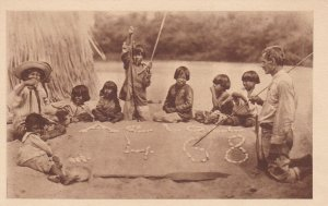 Children In Class, La Classe Sur Le Sable Chez Les BOROROS, Indigenous People...