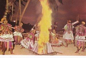 FIJI, 40-60s; Meke at dusk