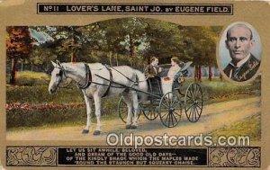Lover's Lane, Saint Jo Eugene Field Writing on back
