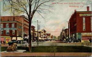 Galesburg Illinois~Main Street East~Raymond & Son~Sanborn Coffee~Foster's~1907