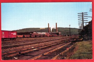 THE LEHIGH VALLY RAILROAD SHOPS. SAYRE, PA  SEE SCAN