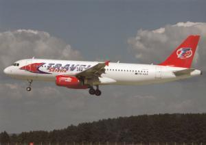 Travel Service, Airbus A320, unused Postcard