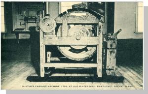 Pawtucket, Rhode Island/RI Postcard, Slater Mill Machine