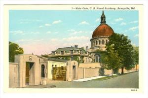 Main Gate , Naval Academy , Annapolis , Maryland , 30-40s