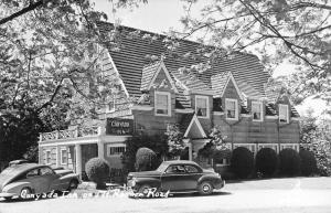 Mt Rainier Washington Canyada Inn Real Photo Antique Postcard K102299