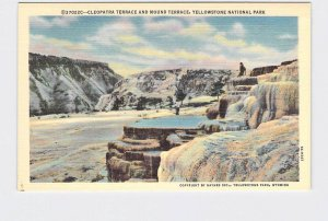 VINTAGE POSTCARD NATIONAL STATE PARK YELLOWSTONE CLEOPATRA TERRACE #5