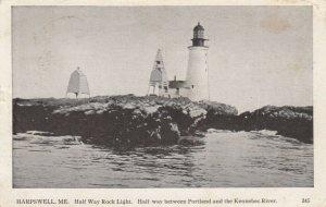 HARPSWELL , Maine , 1911 ; Half Way Rock Lighthouse