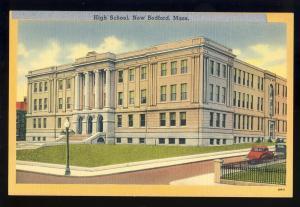 New Bedford, Mass/MA Postcard, High School, 1950's?