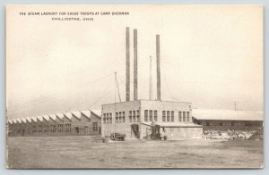 Chillicothe Ohio~Steam Laundry at Camp Sherman~50,000 Troops~c1917 WWI B&W PC