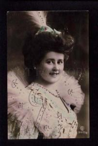 074413 GLAMOUR Lady BELLE Actress Vintage PHOTO Tinted